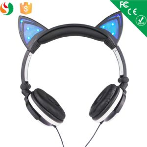 Ladies Fancy Items Custumized Stereo Cat Ear Headphone OEM pictures & photos