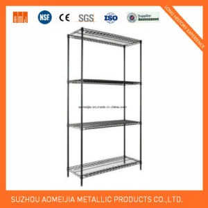 ISO SGS Approved 4 Tier Black Heavy Duty Wire Rack