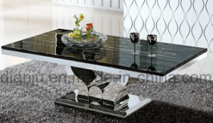 Marble Top Stainless Steel Furniture Coffee Table (CT6108)