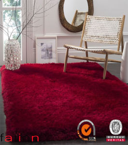 Happy Red Plain Color Shaggy Carpet Home Decoration Area Rug