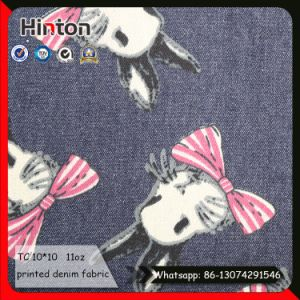 Fashion Design Cartoon Printed Denim Fabric for Kids pictures & photos