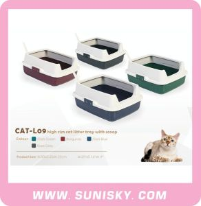 High Cat Litter Tray with Basket & Scoop pictures & photos
