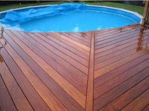 Brazilian Teak Wood Decking for Swimming Pool