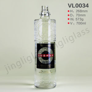Excellent High Quality Vodka Bottle with Embosed Decoration pictures & photos