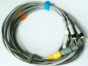Plastic Single Redel. 4pin DIN 3.0 4 ECG Cable