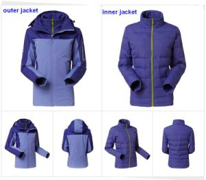 2016 Women Winter Waterproof Warm Three-in-One Jacket pictures & photos