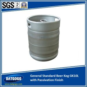 General Standard Beer Keg Gpk10L with Passivation Finish