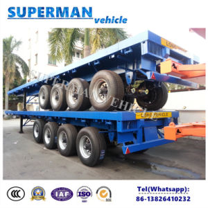 Heavy Duty 4 Axle 80t Cargo Semi Trailer Flatbed Type for Sale pictures & photos