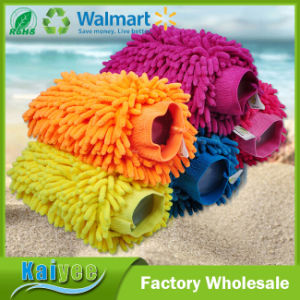 26*19cm 120g Colorful Chenille Microfiber Car Cleaning Glove pictures & photos