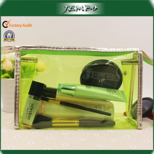 Promotional Waterproof PVC Cosmetics Bag with Leather Edge pictures & photos