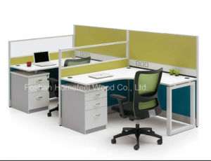 High Quality Double Office Cubicle Workstation with Fixed Pedestal (HF-BSP001) pictures & photos