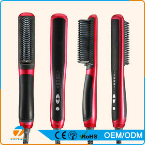 Automatic Electric LCD Hot Sell Steam Hair Brush Ceramic Comb Hair Straightener pictures & photos