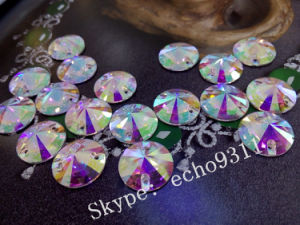 High Quality Ab Crystal Sew on Garment Stones Round Shape (DZ-1041) pictures & photos