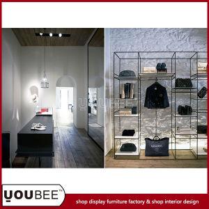 China Simple Metal Display Shelf For Handbag Shop Interior