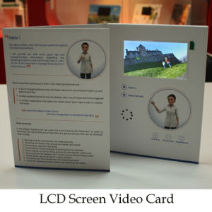 4.3inch LCD Screen Video Brochure with Custom Printing pictures & photos