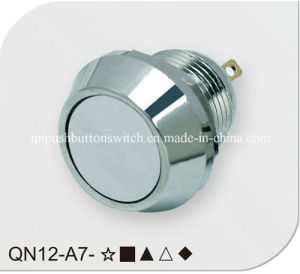 Flat 12mm Momentary No Spade Pin Push Button Switch pictures & photos