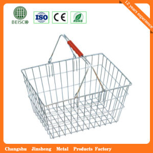 Supermarket Wire Metal Shopping Basket (JS-SBN09) pictures & photos