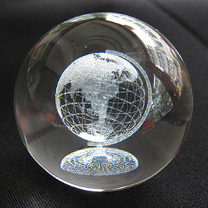 Home Deceration New Design 3D Laser Engrave Crystal Ball pictures & photos