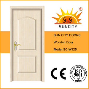 Modern House White Solid Wood Door Design (SC-W125) pictures & photos
