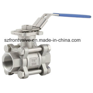 Precision Casting Stainless Steel 3PC Socket Weld Ball Valve pictures & photos