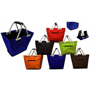 600d Polyester Foldable Shopping Basket on Sale (SP-306) pictures & photos