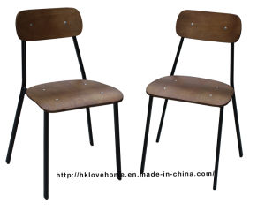 Morden Classic Metal Dining Restaurant Wooden Chair pictures & photos