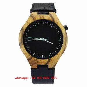 New Style Quartz Movement Wooden Watch with Leather Strap for Men Fs498