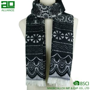 Oblong Lace Pattern Ladies Winter Scarf