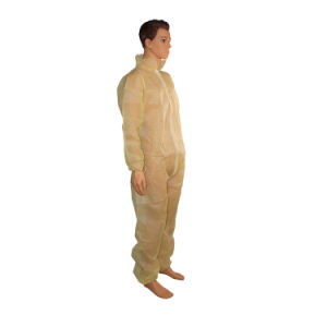 Disposable Coverall Yellow Without Hood pictures & photos