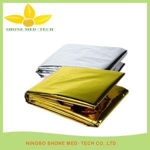 Gold or Silver Aluminium Foil Emergency Thermal Blanket pictures & photos