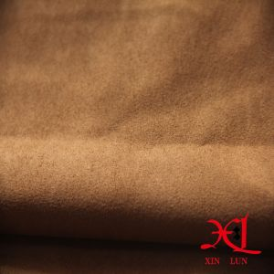 Bronzed One Side Polyester Suede Fabric for Bag/Dress/Cloth/Shoes pictures & photos