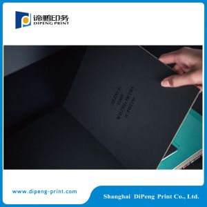 Black Color Hard Cover Catalogue Printing pictures & photos