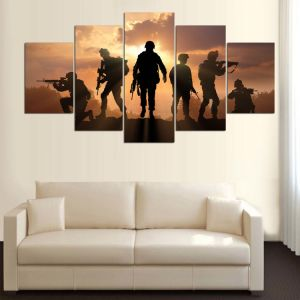 5 Panel HD Printed Painting Canvas Print Art Modern Home Decor Wall Art Pictures for Living Room Army Poster on Canvas Mc-156 pictures & photos