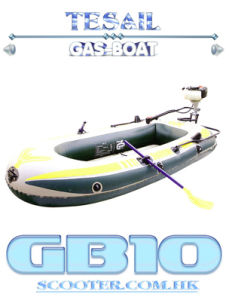 Inflatable Boat with A Gas Outboard Motor