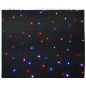 3x4m Stage Performance Clothing Stage Decoration RGB Star Curtain, 20 Programs, Automatic + Music + DMX