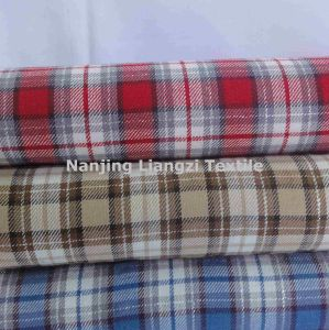 Cotton Yarn Dyed Twill Peached Check Fabric (LZ5411) pictures & photos