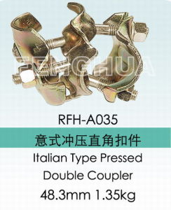 Italian Type Pressed Double Coupler (RFH-A035) pictures & photos