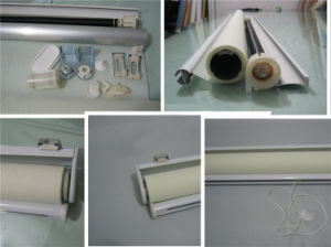 Beige Sunscreen Patterned Roller Blind Manual Control pictures & photos