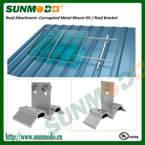 Anodized Aluminum Solar Brackets for Corrugated Metallic Roof