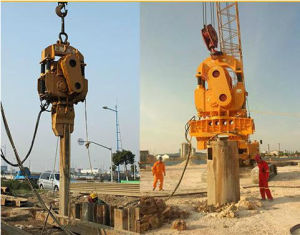 DZP Series Resonance-Free Frequency Modulation Vibratory Pile Hammer 3