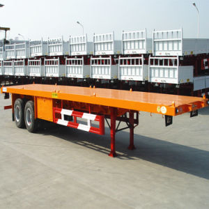 2014 Popular 2 Axles 2X20ft Container Trailer