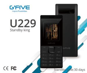 "Gfive U229 Big Batter Long Standby Cell Phone Mobile Phone Feature Phone Basic Phone 1.77"" Dual SIM Ce FCC Certificated"