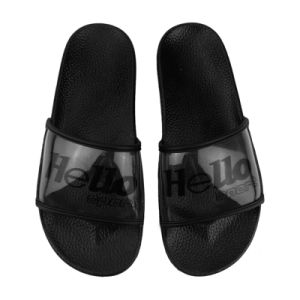 plain black sandals flat