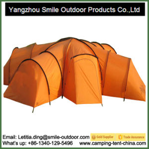 Camping 8-Person Steel Frame Yurt Waterproof Family Tent 4 Rooms pictures & photos