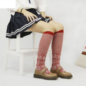 9785a00bbaf China Women′s Girls Lady′s Tube Knee-High Double Cylinder Jacquard ...