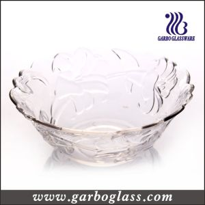 7PCS Colored Glass Salad Bowl Set with Lily Flower Design pictures & photos
