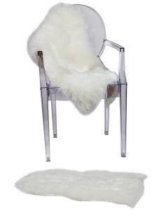 Faux Sheepskin Chair Cover Seat Shaggy Sheepskin Rug