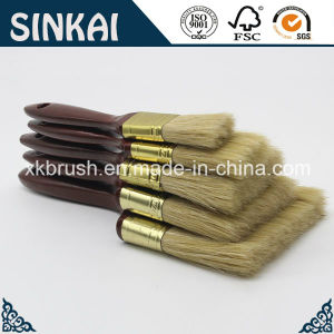 Synthetic Tapered Paint Brush with Wood Handle pictures & photos