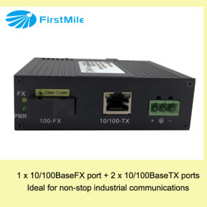 Managed Fiber Media Converter with Fast Ethernet pictures & photos