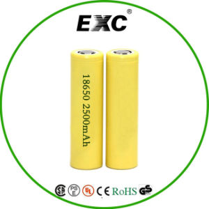 Battery Wholesale 18650 2500mAh lithium Battery 3.7V Rechargeable pictures & photos